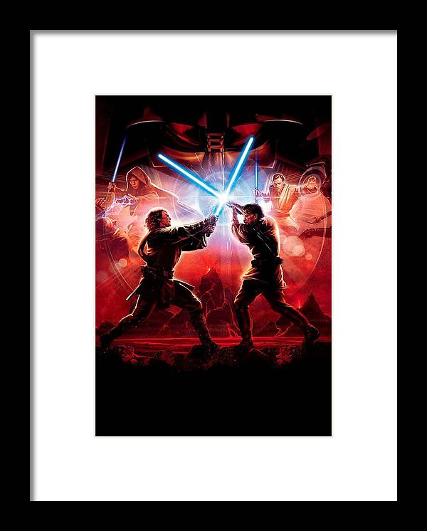 Star Wars Episode Iii Revenge Of The Sith 2005 Framed Print By Geek N Rock