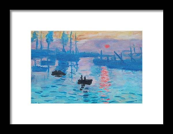 Monet Framed Print featuring the painting Sunrise by MotionAge Designs