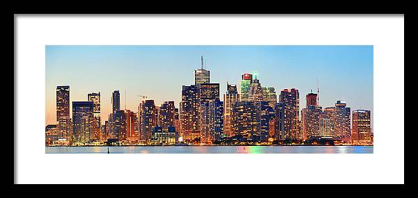 Toronto Framed Print featuring the photograph Toronto Cityscape by Songquan Deng