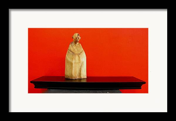Figure Framed Print featuring the sculpture Untitle by Victor Amor