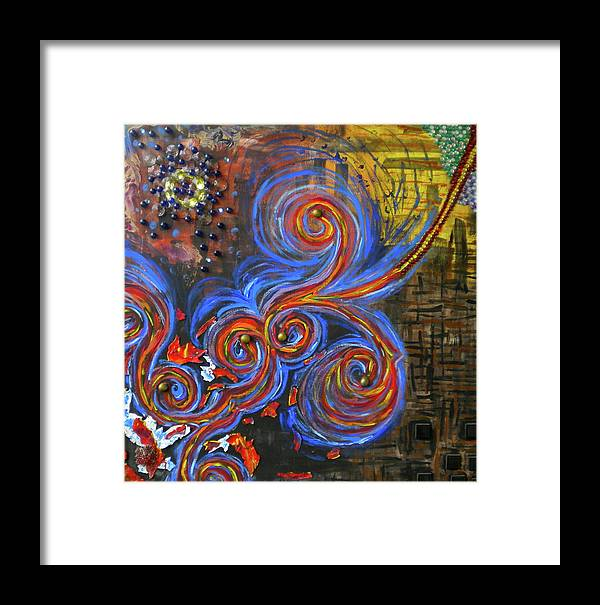 Jewels Framed Print featuring the painting Untitled by Dylan Chambers