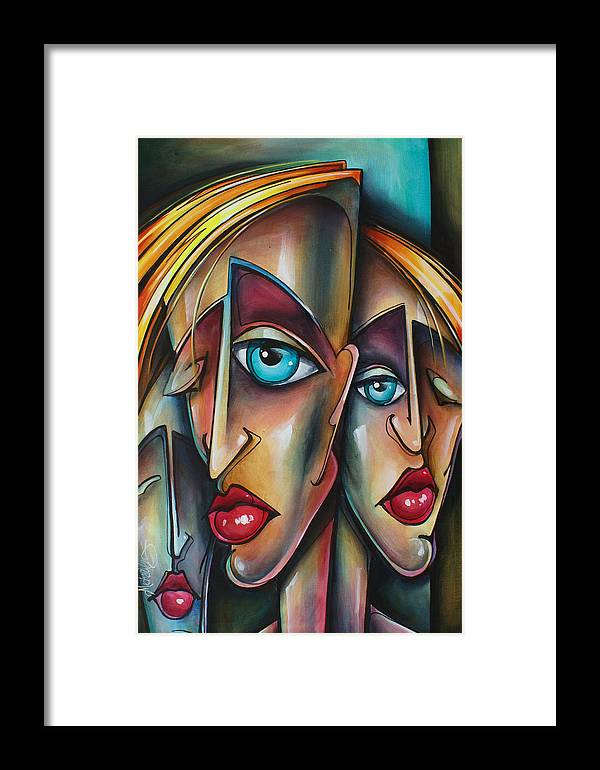 Portrait Framed Print featuring the painting Untitled by Michael Lang