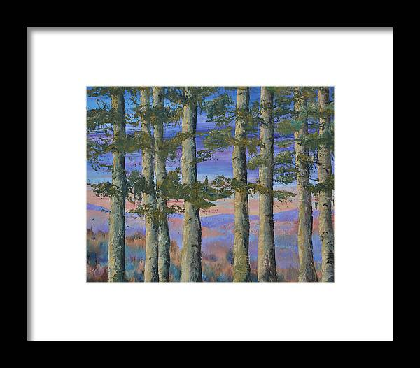 Landscape Framed Print featuring the painting Untitled by Michael LaZar