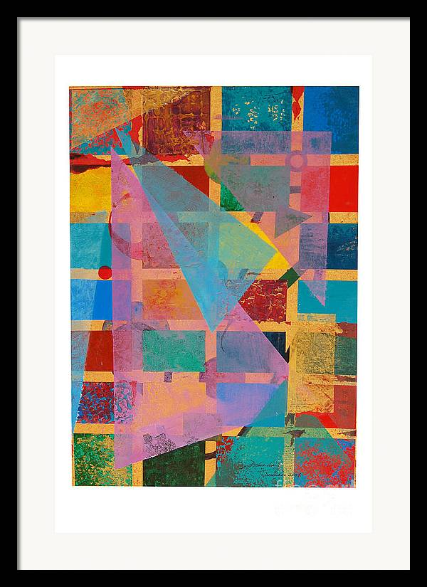 Abstract Framed Print featuring the painting Untitled by Padmakar Kappagantula