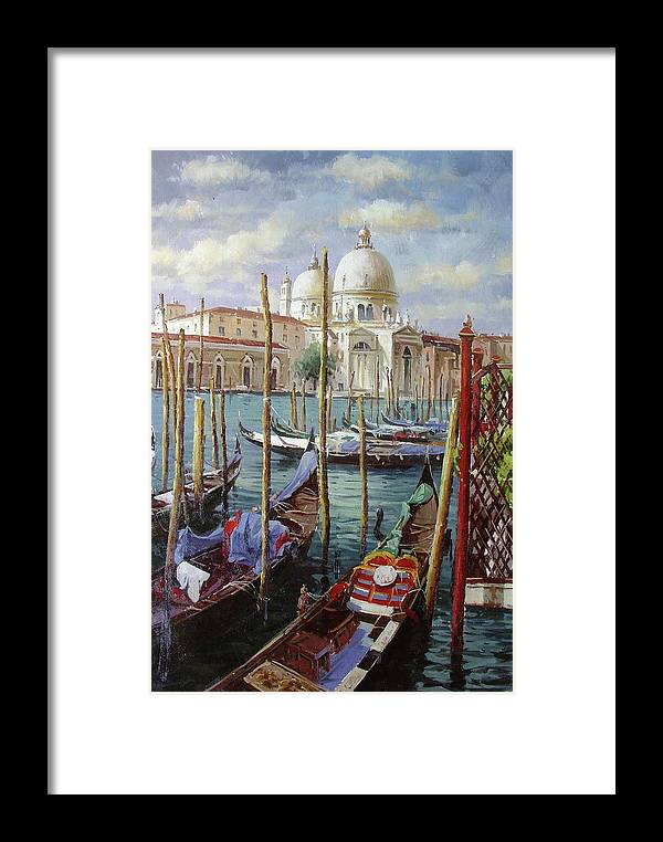 Venice Framed Print featuring the painting Venice by Lucio Campana