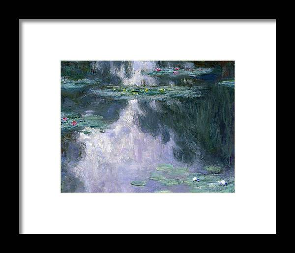 Nympheas Framed Print featuring the painting Waterlilies by Claude Monet