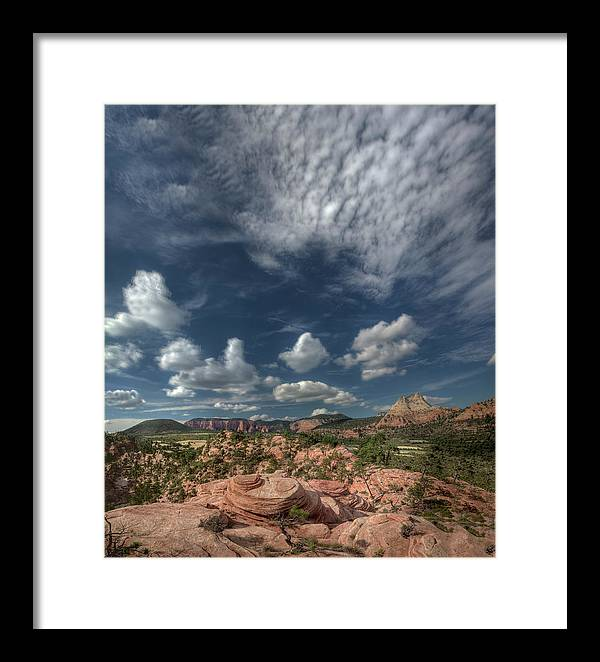 Zion Framed Print featuring the photograph Zion Kolob Terrace by Michael Just