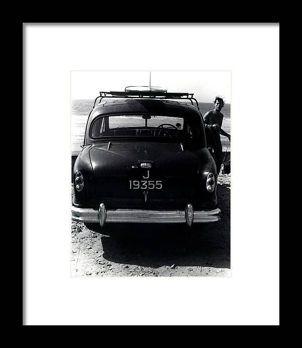 Surf Framed Print featuring the photograph 50's Surfer by Charles Stuart