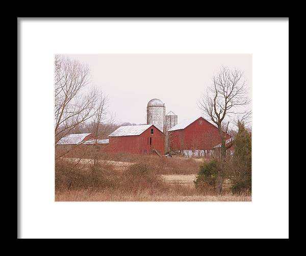 Farms Framed Print featuring the photograph 519 Farm by Amanda Vouglas