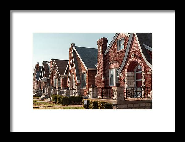 St. Louis Neighborhood Framed Print featuring the photograph 5400 Walsh by Scott Rackers
