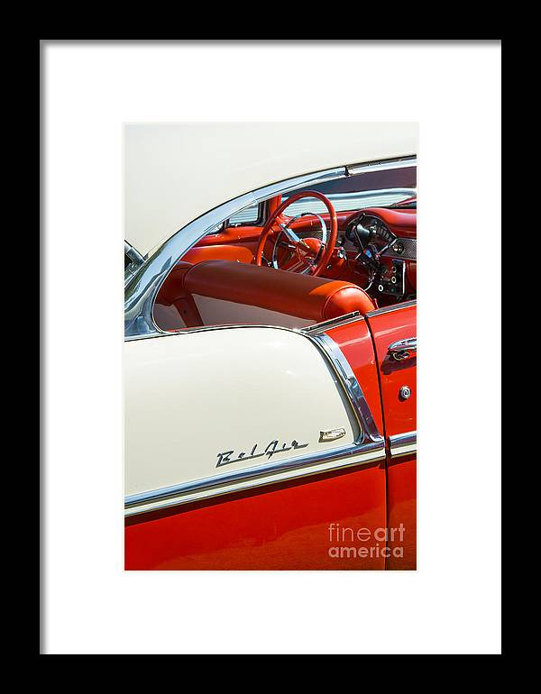 Chevrolet Framed Print featuring the photograph 55 Chevrolet Sport Coupe by Tim Gainey