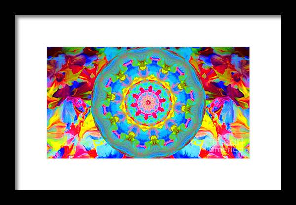 Framed Print featuring the digital art 55 by Rebecca Turner