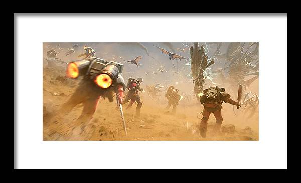 55954 Warhammer 40k Space Marines Vs Tyranids Framed Print