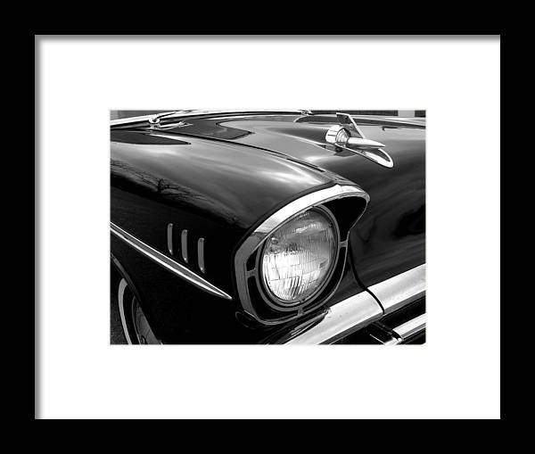 Car Framed Print featuring the photograph 57 Chevy 2 by Audrey Venute