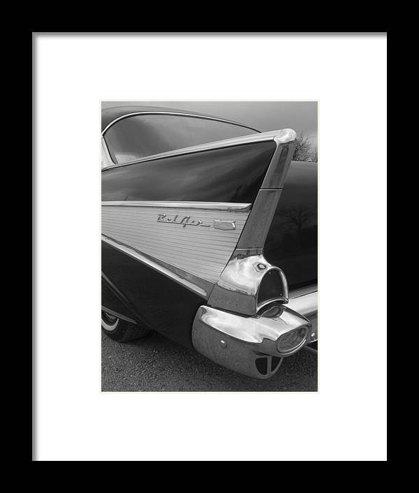 Automobile Framed Print featuring the photograph 57 Chevy by Audrey Venute