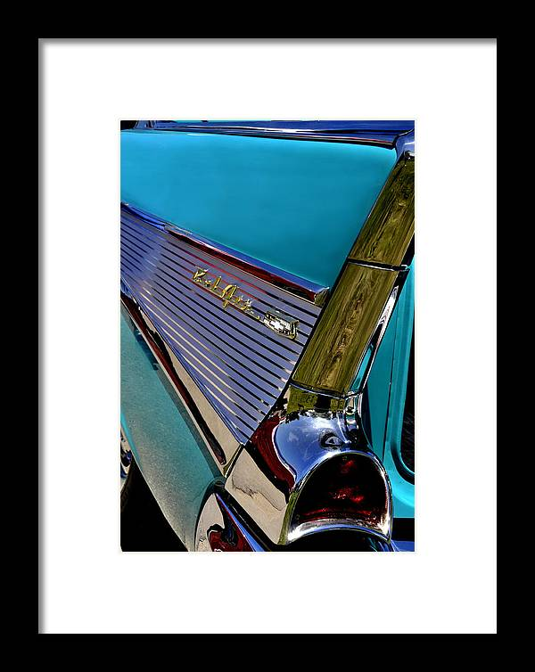 Chevy Framed Print featuring the photograph 57 Chevy Bel Air by Lyle Huisken