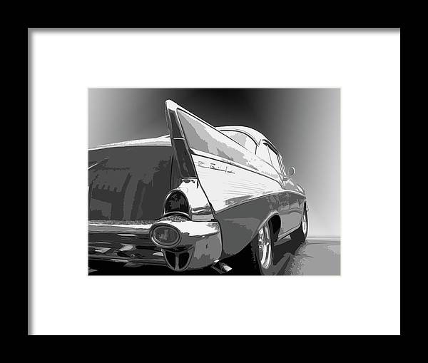 1957 Framed Print featuring the photograph 57 Chevy by Dick Goodman