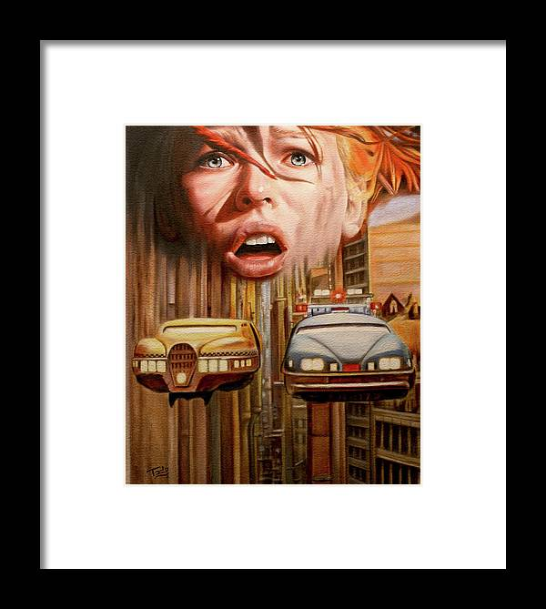 5th Framed Print featuring the painting 5th Element Tribute by Todo Brennan