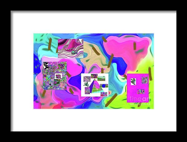 Walter Paul Bebirian Framed Print featuring the digital art 6-19-2015da by Walter Paul Bebirian