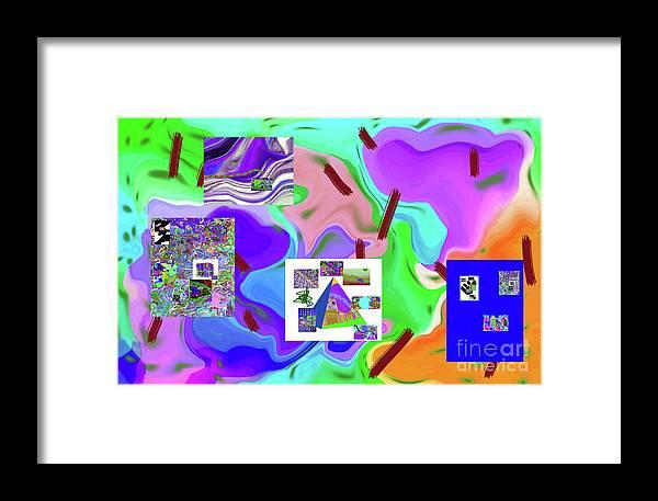 Walter Paul Bebirian Framed Print featuring the digital art 6-19-2015dabcdef by Walter Paul Bebirian