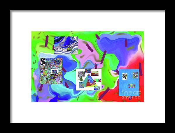 Walter Paul Bebirian Framed Print featuring the digital art 6-19-2015dabcdefghij by Walter Paul Bebirian