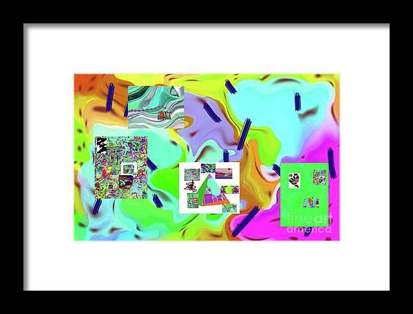 Walter Paul Bebirian Framed Print featuring the digital art 6-19-2015dabcdefghijklmnop by Walter Paul Bebirian