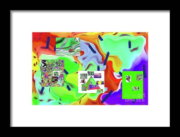 Walter Paul Bebirian Framed Print featuring the digital art 6-19-2015dabcdefghijklmnopqrt by Walter Paul Bebirian