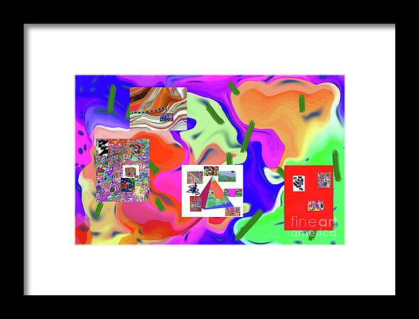 Walter Paul Bebirian Framed Print featuring the digital art 6-19-2015dabcdefghijklmnopqrtuvwxyzabcdef by Walter Paul Bebirian