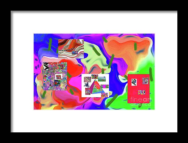 Walter Paul Bebirian Framed Print featuring the digital art 6-19-2015dabcdefghijklmnopqrtuvwxyzabcdefg by Walter Paul Bebirian