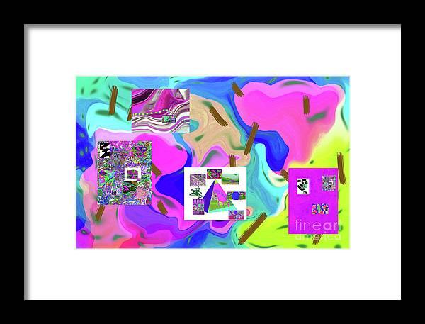 Walter Paul Bebirian Framed Print featuring the digital art 6-19-2015dabcdefghijklmnopqrtuvwxyzabcdefghijklm by Walter Paul Bebirian