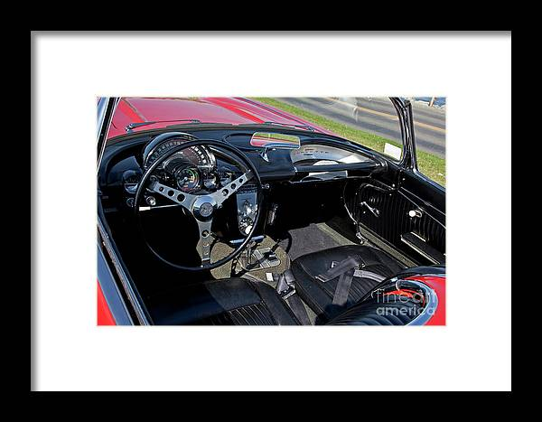 1962 Framed Print featuring the photograph 1962 Corvette by Butch Lombardi