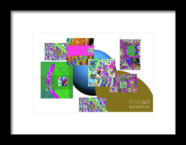 Walter Paul Bebirian Framed Print featuring the digital art 6-20-2015gabc by Walter Paul Bebirian
