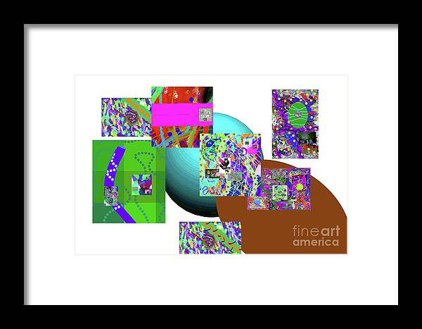 Walter Paul Bebirian Framed Print featuring the digital art 6-20-2015gabcde by Walter Paul Bebirian