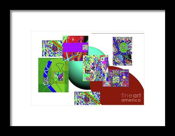 Walter Paul Bebirian Framed Print featuring the digital art 6-20-2015gabcdefg by Walter Paul Bebirian
