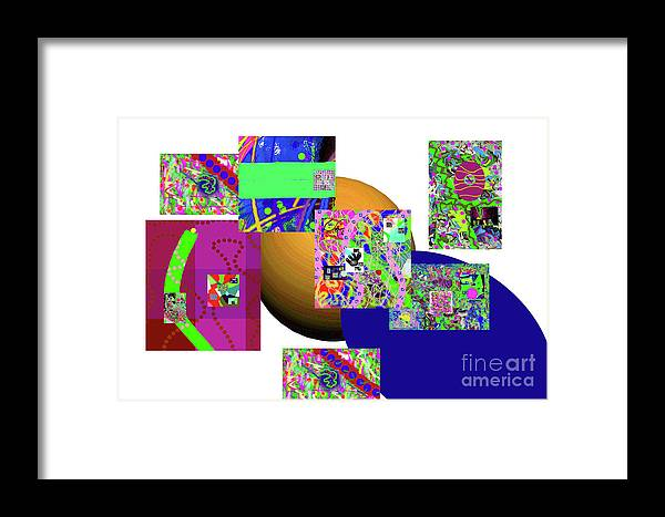Walter Paul Bebirian Framed Print featuring the digital art 6-20-2015gabcdefghijklmnopqrtu by Walter Paul Bebirian
