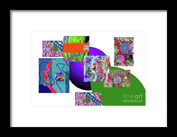 Walter Paul Bebirian Framed Print featuring the digital art 6-20-2015gabcdefghijklmnopqrtuvwxyzabcdefgh by Walter Paul Bebirian