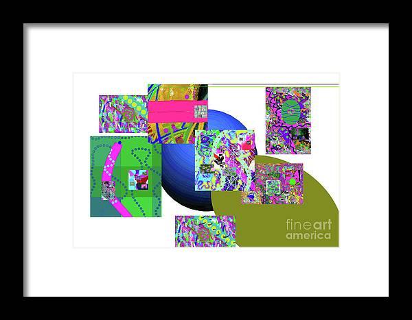 Walter Paul Bebirian Framed Print featuring the digital art 6-20-2015gabcdefghijklmnopqrtuvwxyzabcdefghijklm by Walter Paul Bebirian