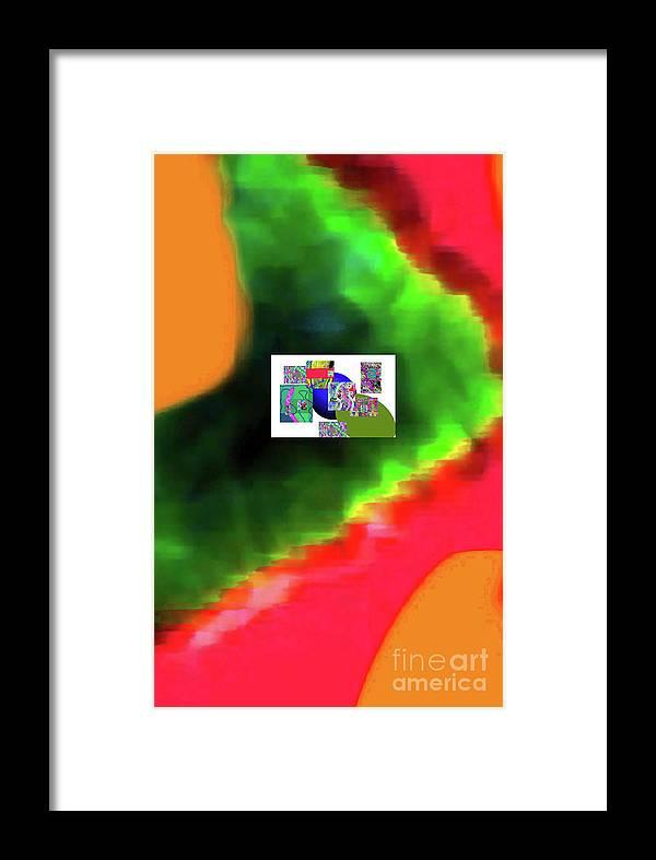 Walter Paul Bebirian Framed Print featuring the digital art 6-20-2015h by Walter Paul Bebirian