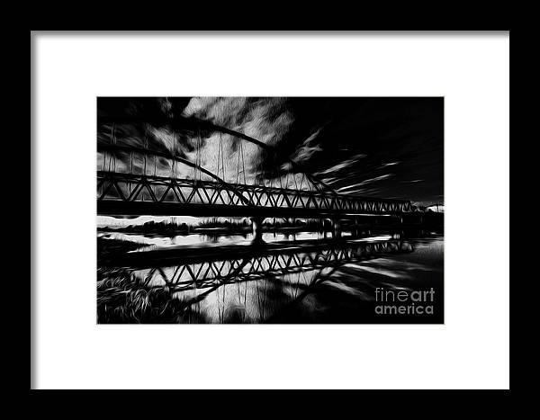 Iron Framed Print featuring the digital art Bridge by Tino Lehmann