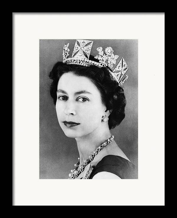 1950s Framed Print featuring the photograph British Royalty. Queen Elizabeth II by Everett