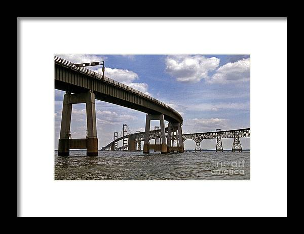 Scenic Tours Framed Print featuring the photograph Chesapeake Bay Bridge by Skip Willits