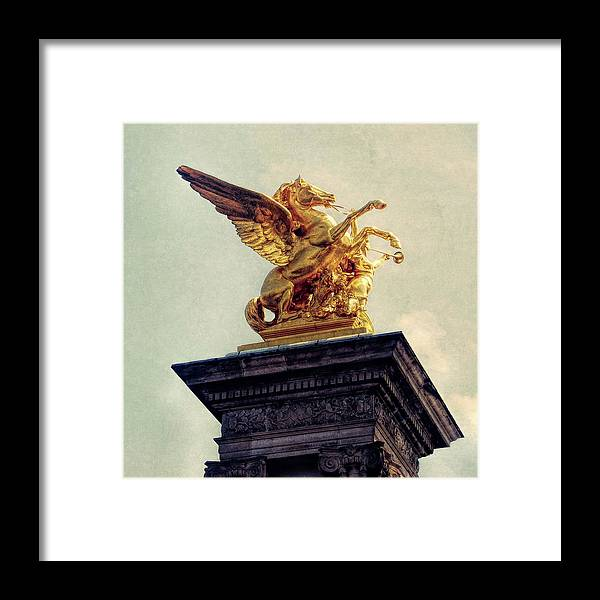 Paris Framed Print featuring the photograph Pegasus In Paris by JAMART Photography