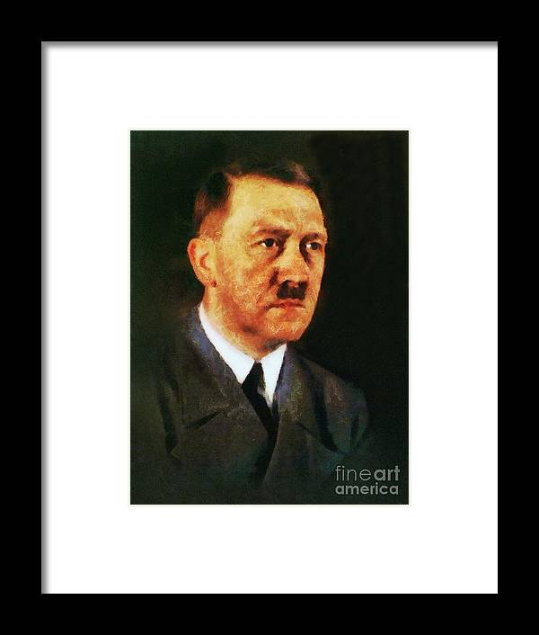 Adolf Framed Print featuring the painting Leaders Of Wwii, Adolf Hitler by John Springfield