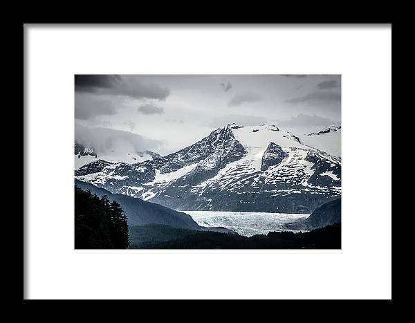 Places Framed Print featuring the photograph Mountain Range Scenes In June Around Juneau Alaska by Alex Grichenko