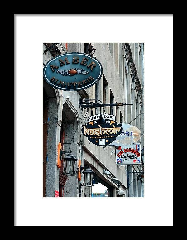 Montreal Framed Print featuring the photograph Old Montreal by Songquan Deng