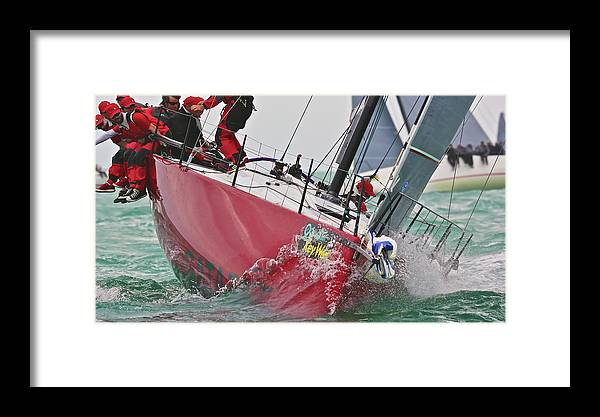 Sloop Framed Print featuring the photograph On Point by Steven Lapkin