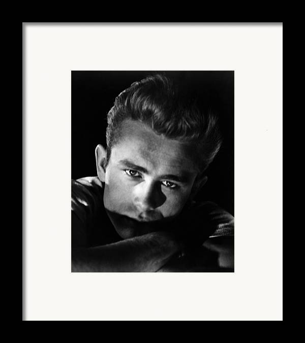 1950s Portraits Framed Print featuring the photograph Rebel Without A Cause, James Dean, 1955 by Everett