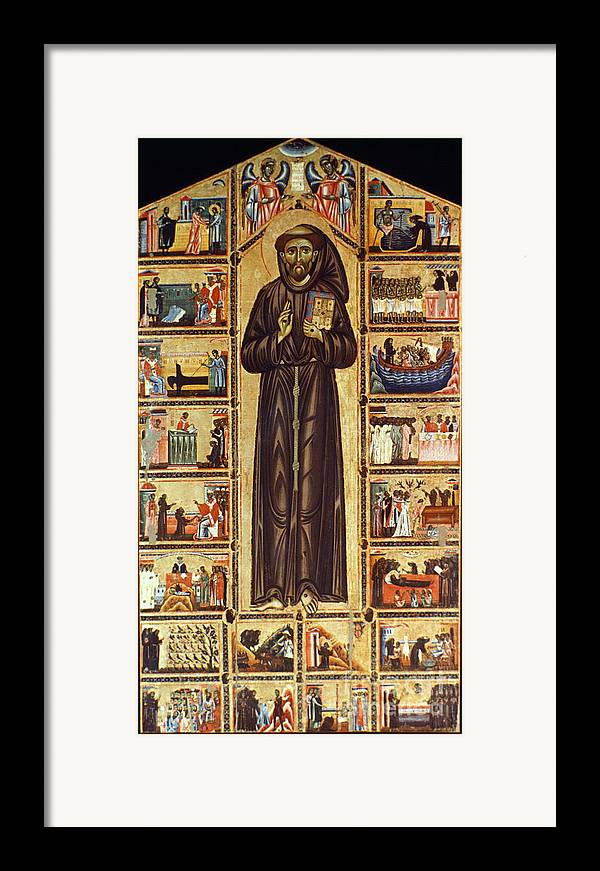 12th Century Framed Print featuring the painting St Francis Of Assisi by Granger