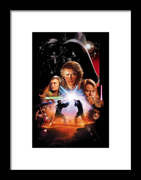 Star Wars Framed Print featuring the digital art Star Wars Episode IIi - Revenge Of The Sith 2005 by Geek N Rock