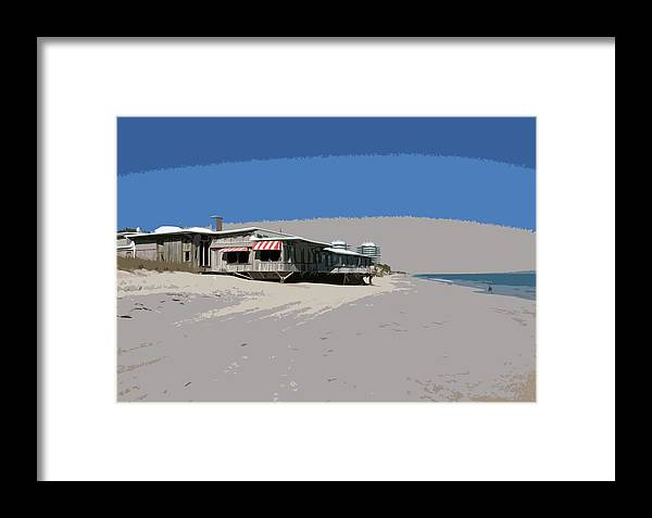 Florida Framed Print featuring the painting The Ocean Grill At Vero Beach In Florida by Allan Hughes